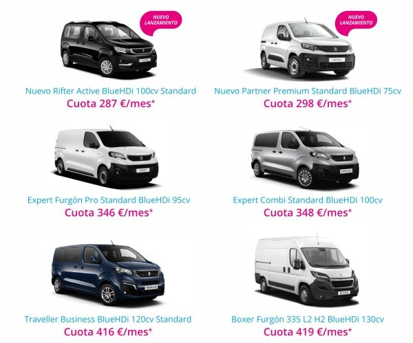 Oferta Vehiculos Comerciales Free To Move Peugeot
